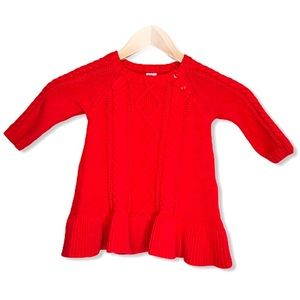 Gap Baby Red Knit Sweater Dress